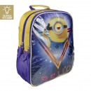 MINIONS - backpack school lights, blue