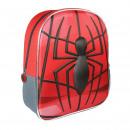 SPIDERMAN - backpack nursery 3d, red