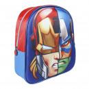 Großhandel Taschen: Avengers - Rucksack Kindergarten 3d, rot