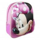 Minnie - mochila guardería 3d, rosa