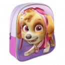 Paw Patrol - mochila de guardería 3d, lila