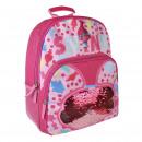 mayorista Regalos y papeleria: Trolls - mochila escolar lentejuelas, rosa