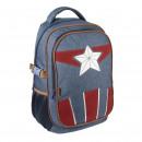 Avengers - mochila de viaje casual, azul marino