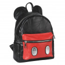 MICKEY - backpack casual fashion faux-leather, bla
