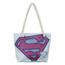 Superman - bolso de playa, azul cielo