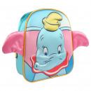 wholesale Licensed Products: DISNEY - backpack nursery 3d dumbo, sky blue