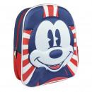 MICKEY - backpack nursery 3d, navy blue