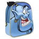 Großhandel Lizenzartikel: Disney - Rucksack Kindergarten 3d Aladdin, blau