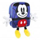 Mickey - mochila de personaje de guardería, azul.