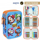 wholesale Gifts & Stationery: TOP WING - filled pencil case triple giotto premiu