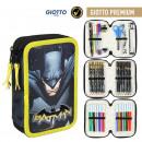 Großhandel Geschenkartikel & Papeterie: Batman - gefülltes Federmäppchen Triple Giotto Pre
