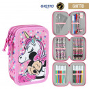 MINNIE - filled pencil case triple giotto, pink
