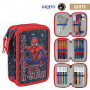 wholesale Licensed Products: SPIDERMAN - filled pencil case triple giotto, blue