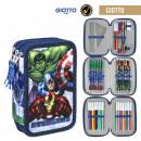 Avengers - Estuche de lápices triple giotto, azul