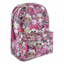 wholesale Licensed Products: LOL - backpack casual lentejuelas, fuchsia