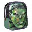 Avengers - mochila vivero 3d hulk, verde