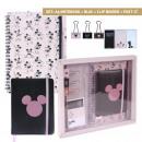 Mickey - conjunto de papelería, rosa