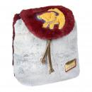 Lion King - mochila casual pelo pelo, burdeos