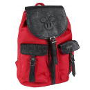 MICKEY - backpack casual travel, red