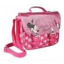 MINNIE - handbag shoulder strap faux-leather, pink