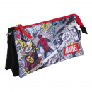 MARVEL - multi functional case flat 3 pockets, red