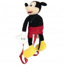 Mickey - mochila infantil de felpa, negra