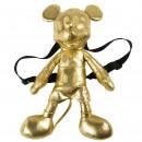 Mickey - mochila para niños de felpa, dorado