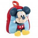 mayorista Artículos con licencia: Mickey - mochila kindergarten con peluche, azul