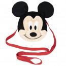 Mickey - bolso de mano de peluche, negro