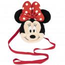 Minnie - bolso de mano de peluche, rojo