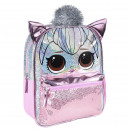 LOL - kids backpack character sparkly, pink