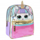 LOL - kids backpack character sparkly, lilac