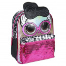 LOL - kids backpack character sparkly, fuchsia