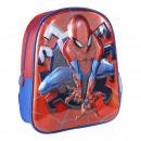 Spiderman - mochila guardería 3d premium metalizad