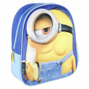 MINIONS - kids backpack 3d premium imitation-suede
