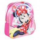 mayorista Artículos con licencia: Minnie - mochila guardería 3d, rosa