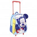 Mickey - Wagen 3D Kindergarten Anwendungen, blau