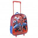 SPIDERMAN - trolley 3d nursery metallized, red