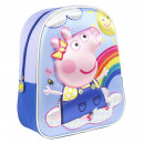 wholesale Licensed Products: PEPPA PIG - kids backpack 3d, blue