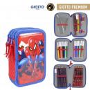 wholesale School Supplies: SPIDERMAN - filled pencil case triple giotto premi