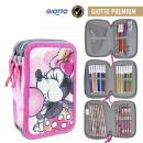 wholesale School Supplies: MINNIE - filled pencil case triple giotto premium