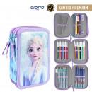 wholesale School Supplies: FROZEN II - filled pencil case triple giotto premi
