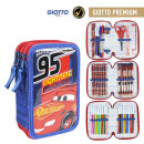 CARS 3 - filled pencil case triple giotto premium