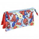 Spiderman - multifunctionele koffer plat 3 zakken,