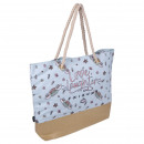 wholesale Bags & Travel accessories: FRIENDS - handbag beach, light blue