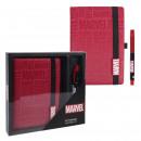 MARVEL - stationery set, red