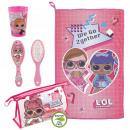Großhandel Taschen & Reiseartikel: LOL - Reiseset Kulturbeutel, pink