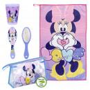 Großhandel Taschen & Reiseartikel: Minnie - Reiseset Kulturbeutel, pink