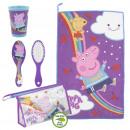 Großhandel Taschen & Reiseartikel: Peppa Pig - Reiseset Kulturbeutel, lila