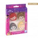hurtownia Upominki & Artykuly papiernicze: Princess - zestaw 4 gumek, wielokolorowy